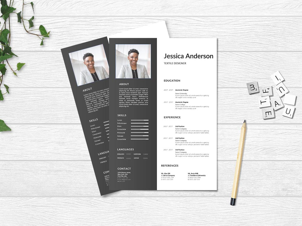 Free Textile Designer Resume Template with Clean and Professional Look
