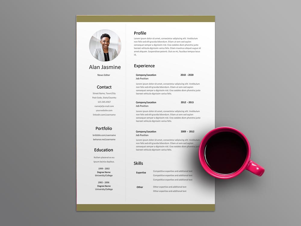 Free News Editor Resume Template