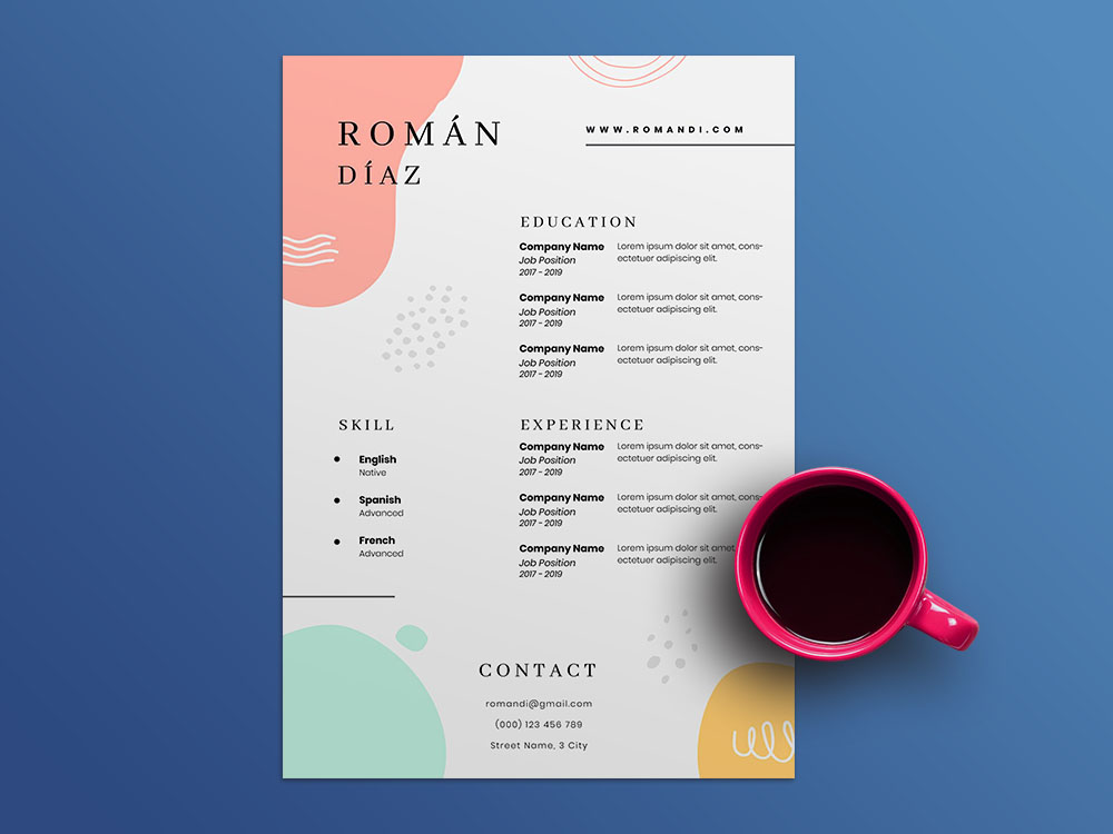 Free Art Centre Manager Resume Template