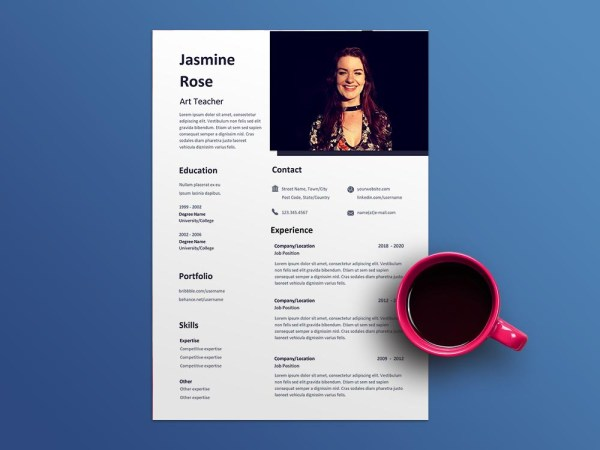 Free Art Teacher Resume Template