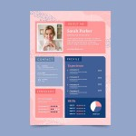 Colorful Feminine Resume