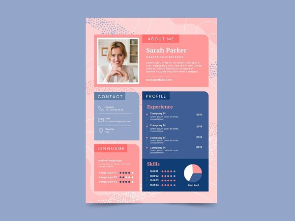 Free Colorful Feminine Resume Template