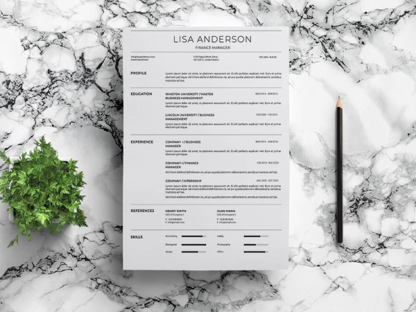 Free Finance Jobs Resume Template
