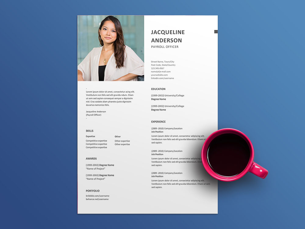 Free Payroll Officer Resume Template