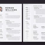 Three Pages Resume Template