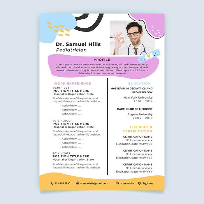 Pediatrics Resume Template