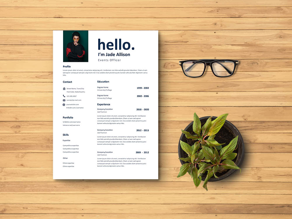 Free Events Officer Resume Template