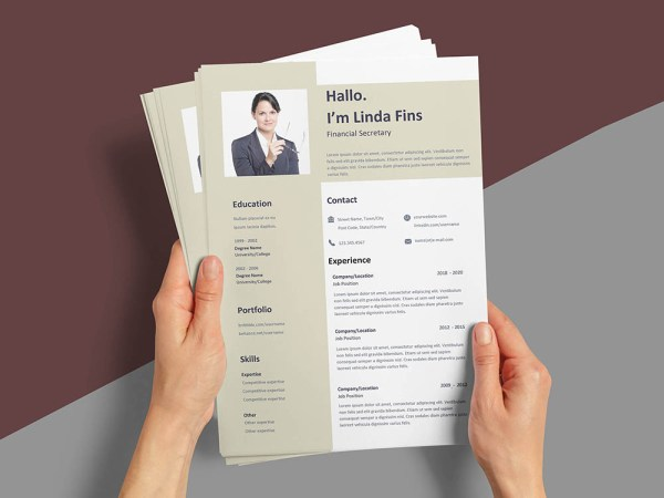 Free Financial Secretary Resume Template for Job Seeker