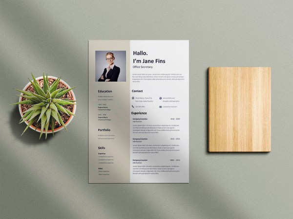 Free Office Secretary Resume Template