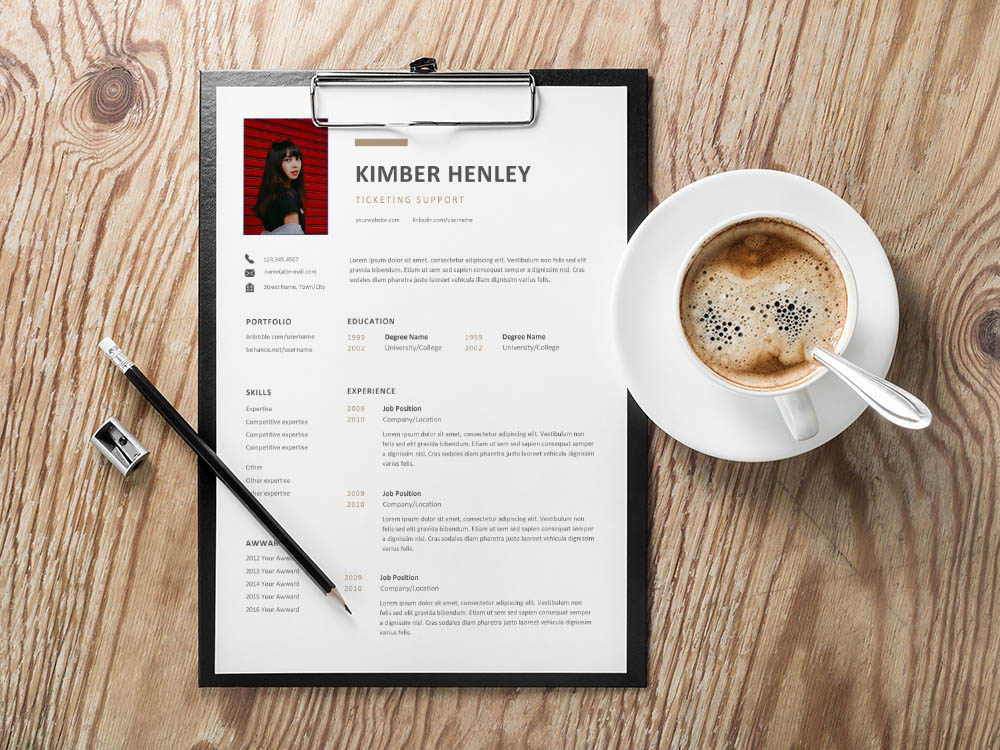 Free Ticketing Support Resume Template