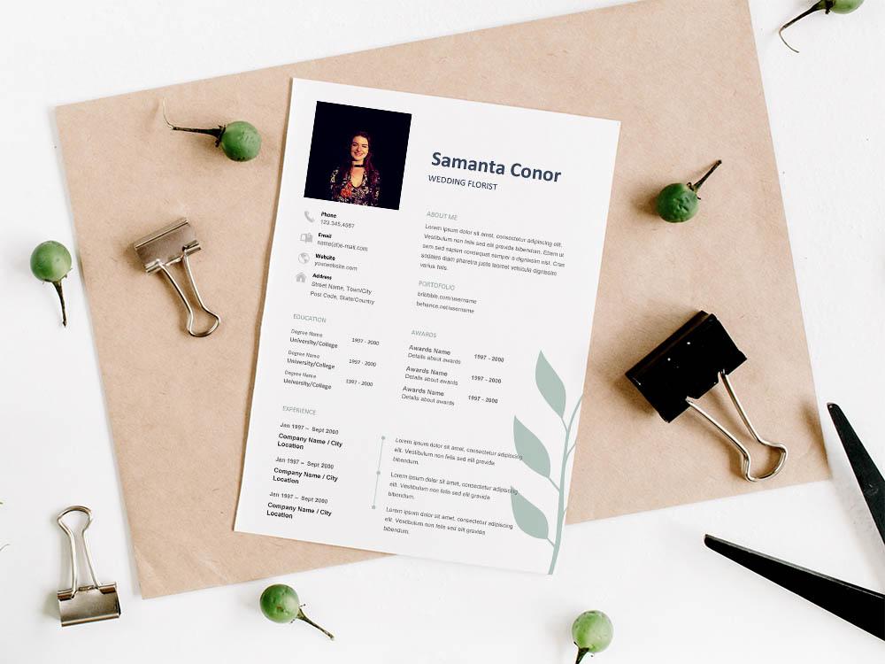Free Wedding Florist Resume Template