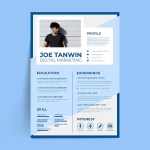 Creative Blue CV Resume