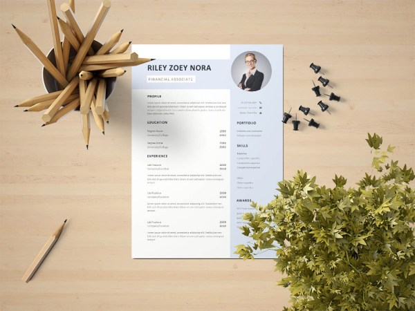 Free Financial Associate Resume Template