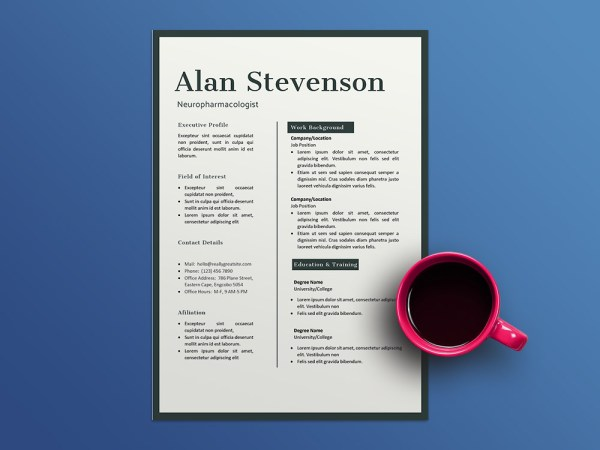Free Neuropharmacologist Resume Template