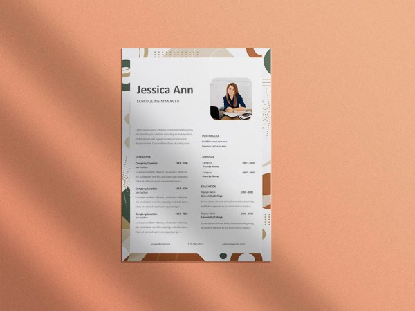 Free Scheduling Manager Resume Template