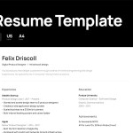 Simple Figma Resume