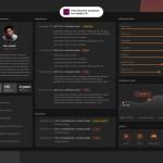 Horizontal Adobe XD Resume