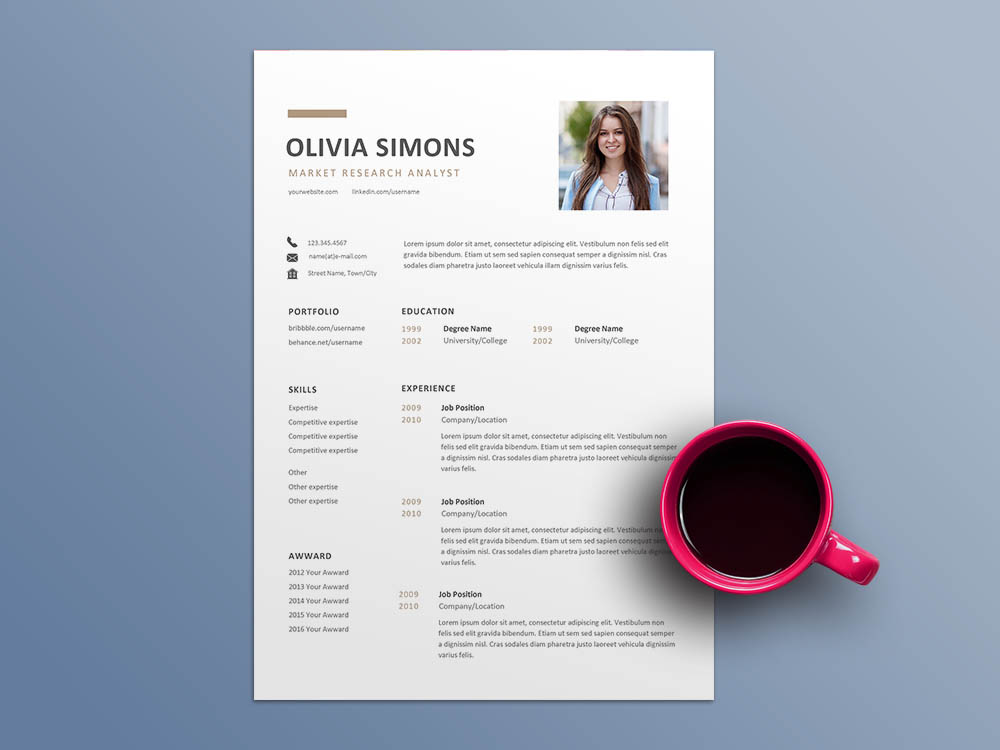 Free Market Research Analyst Resume Template
