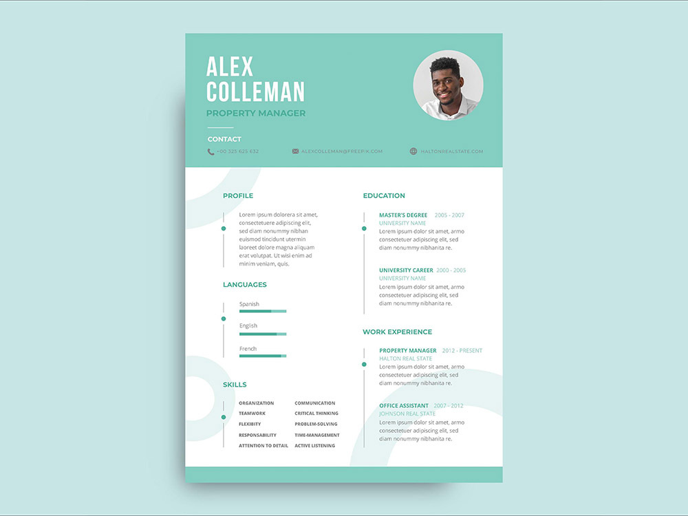 Free Property Manager Resume Template