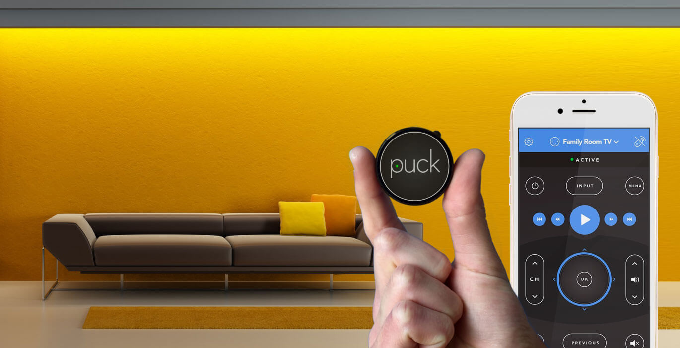 Hate remotes? Puck it.