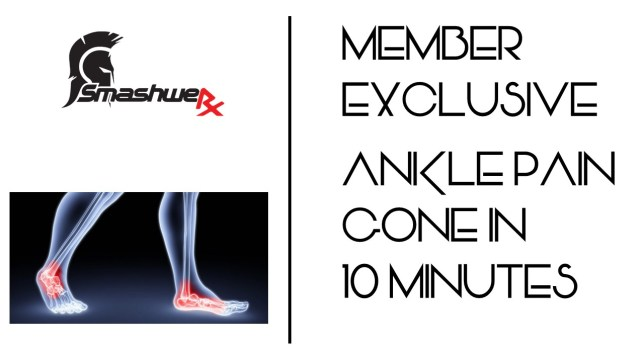 Ankle pain gone in 10 minutes