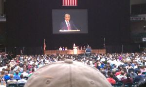 Ron Paul has become a popular speaker on university campuses