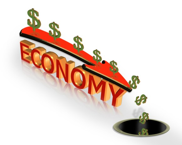 the economy is being held up by QE which is ending