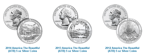 America The Beautiful Silver Bullion Coins for sale