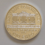 photo of silver austrian silver philharmonic coin