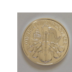 Photo showing the back of an Austrian Silver Philharmonic coin