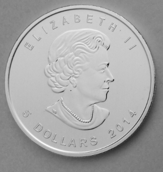 Canadian silver bald eagle coin 2014 obverse