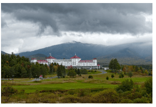 Photo of the Bretton Woods Hotel in New Hampshire