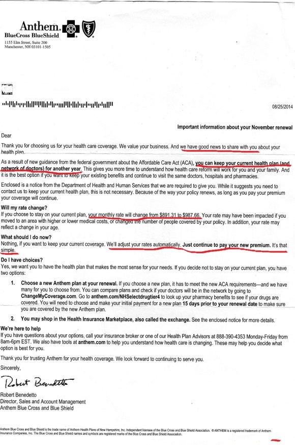 anthem letter if you like your plan you can keep your plan letter