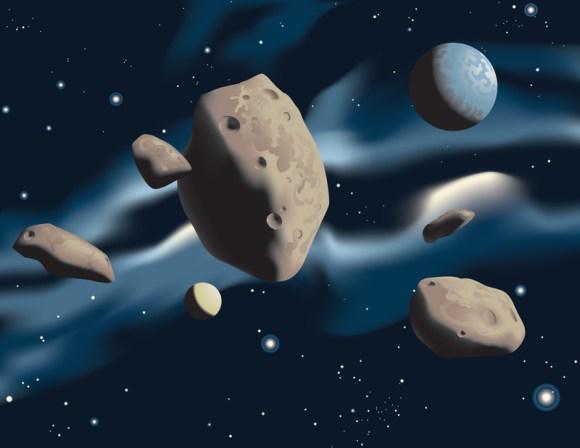 Astroid gold mining