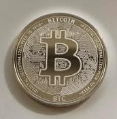Bitcoin silver coin front