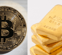 Bitcoin gold and gold