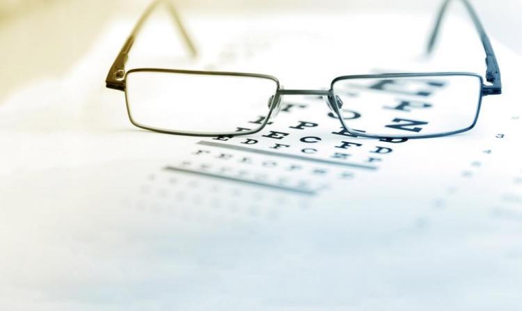 glasses on eye chart in shreveport optometrists office