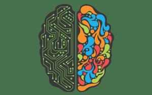 Half Technical, Half Creative Brain Icon