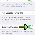 how to enable read receipts on the iphone 5