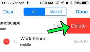 How to Delete an Outgoing Call on an iPhone 5
