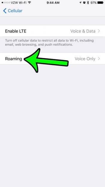 select roaming