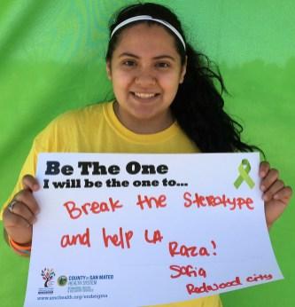 Break the stereotype and help La Raza! - Sofia, Redwood City