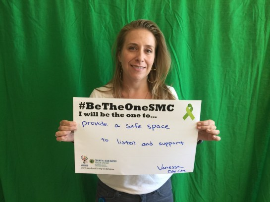 Provide a safe space to listen and support - Vanessa, Daly City.