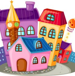 cartoon houses