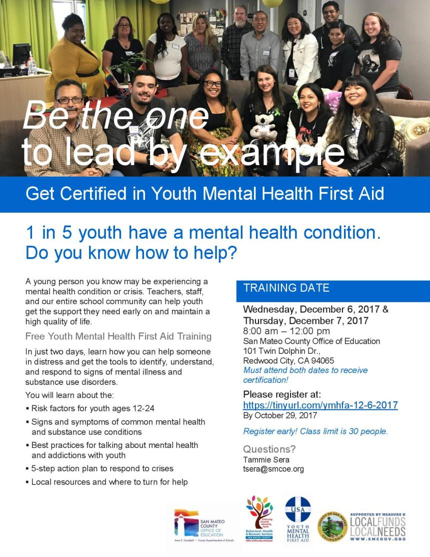 Youth Mental Health First Aid Behavioral Health Recovery