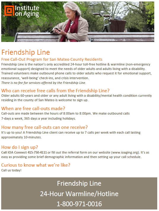 friendship line flyer