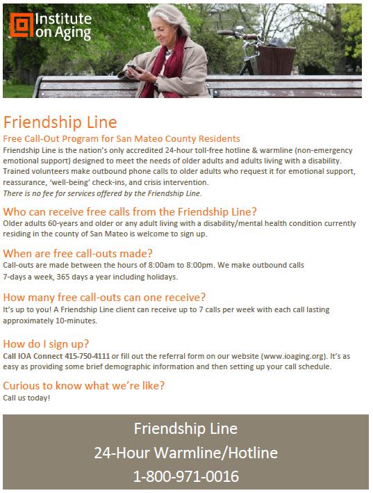 friendship line flyer