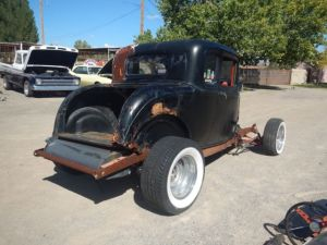 1932 FORD STEEL 5 WINDOW COUPE OLD HOT ROD PROJECT CAR