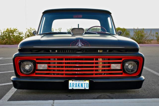 1965 Ford F100 Pickup Custom Black Widow Show Truck Rat
