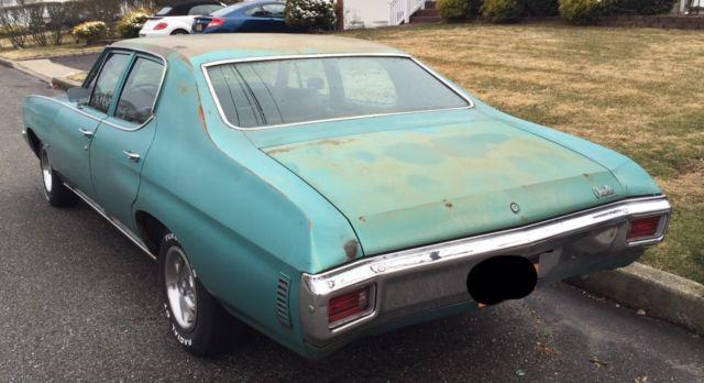 1970 Chevrolet Chevelle Malibu Sedan 4 Door 50L Classic